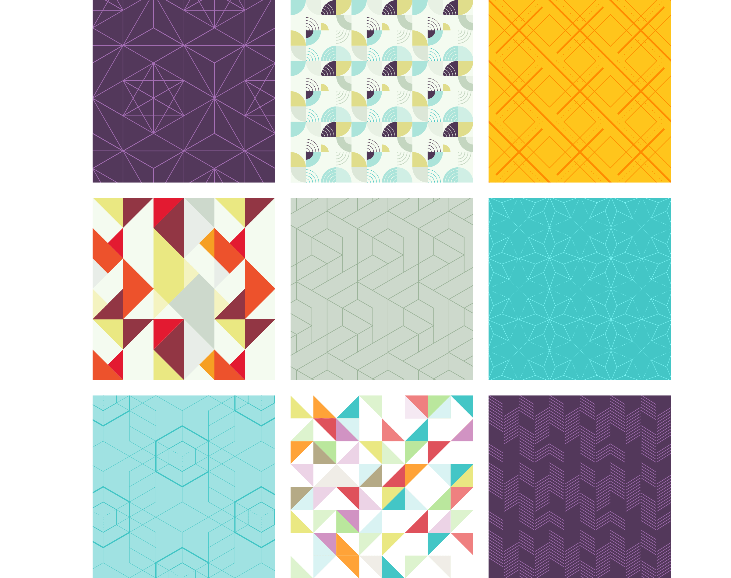 image showing 9 of the 20 FREE seamless geometrical Adobe Illustrator patterns