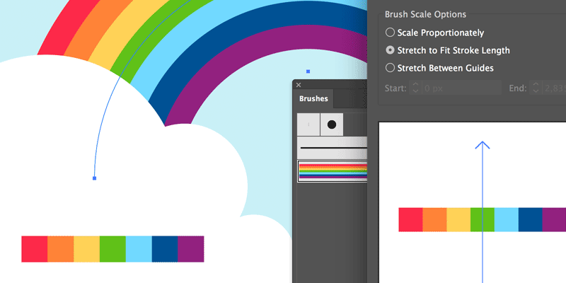 How To Create a Rainbow Art Brush