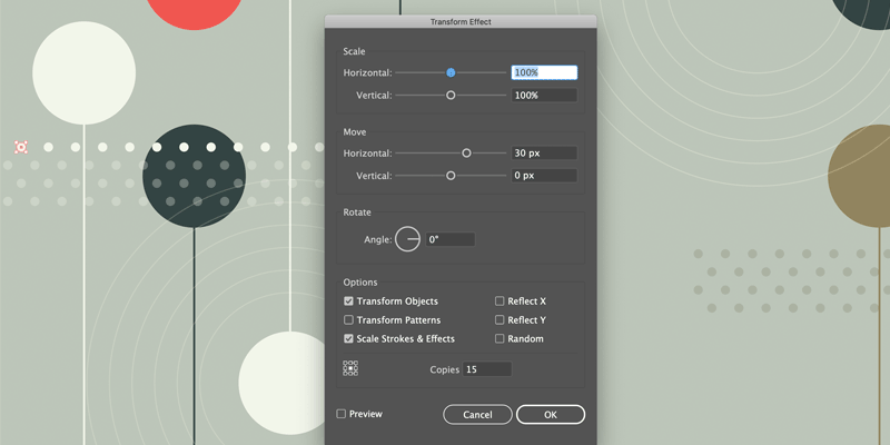 Adobe Illustrator Transform Effect