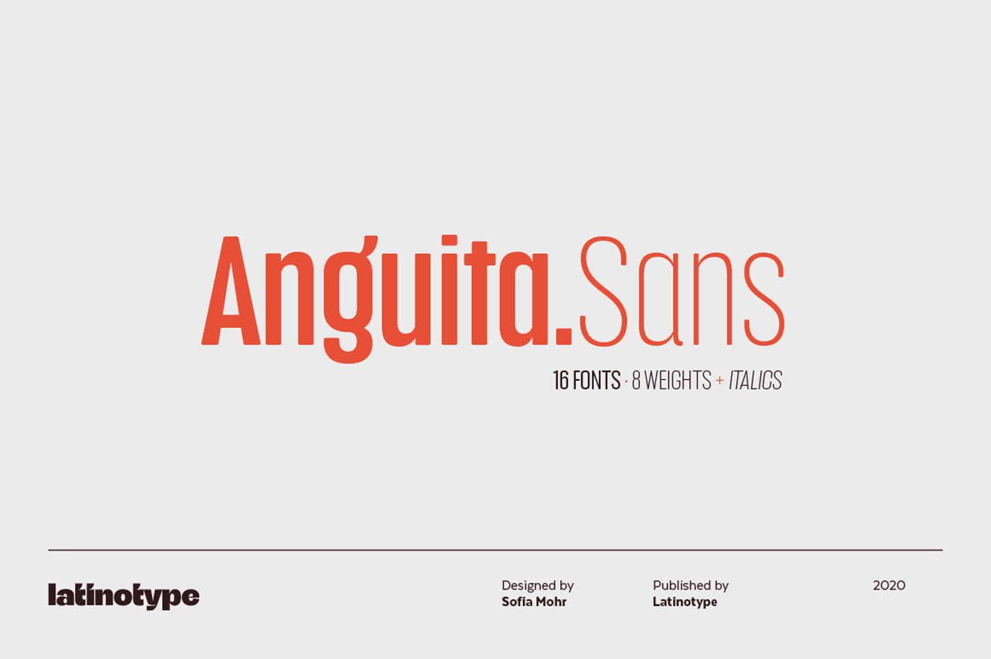 Anguita Sans has 16 styles