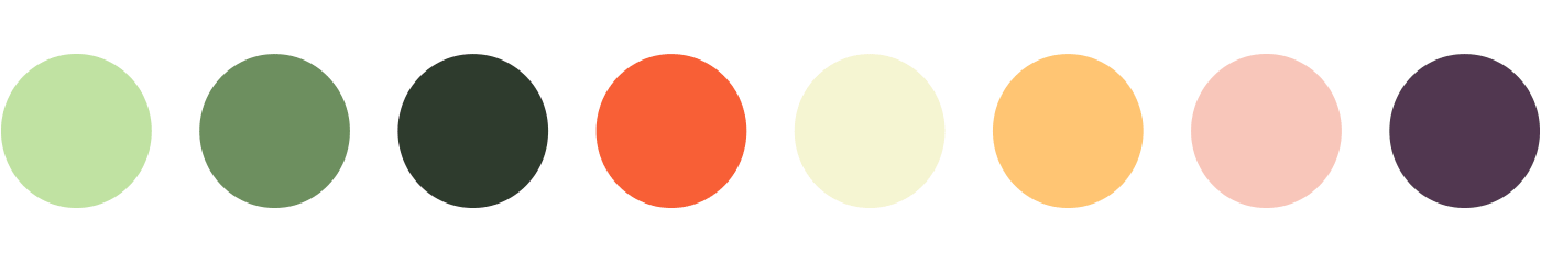 HERBi color palette, inspired by an illustration from my Inspiration Gallery