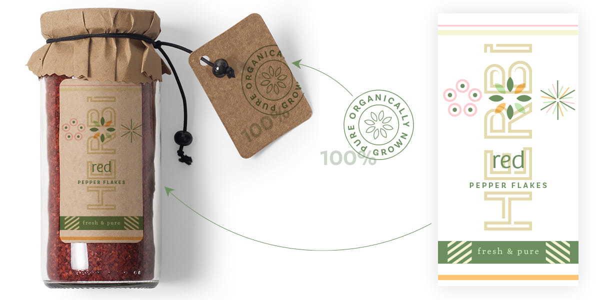 HERBi wicker jar packaging design