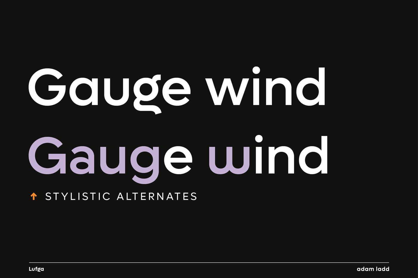 Stylistic alternates (G, a, g, u, w)