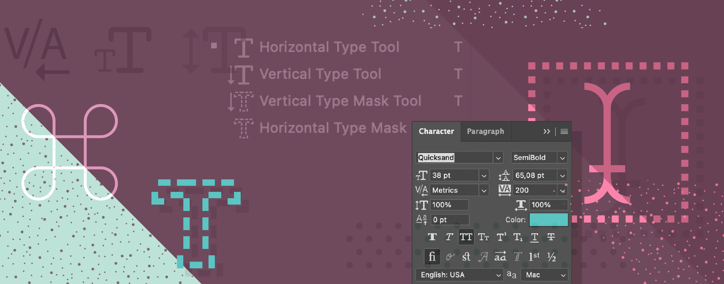 Photoshop Type Shortcuts Cheat Sheet