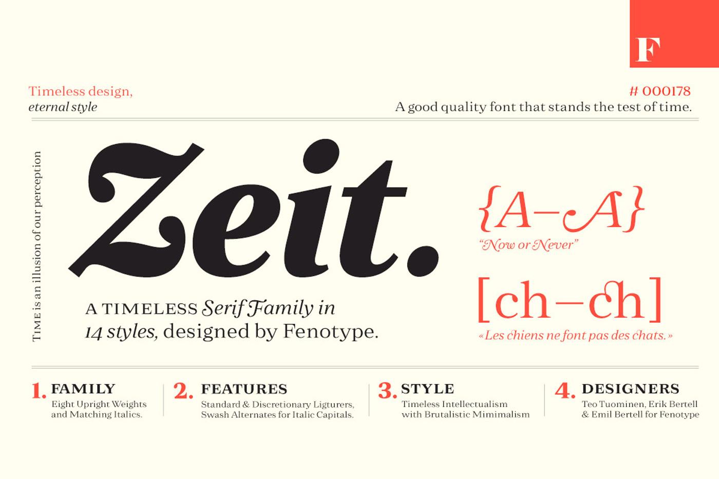 Zeit is an ageless serif font family