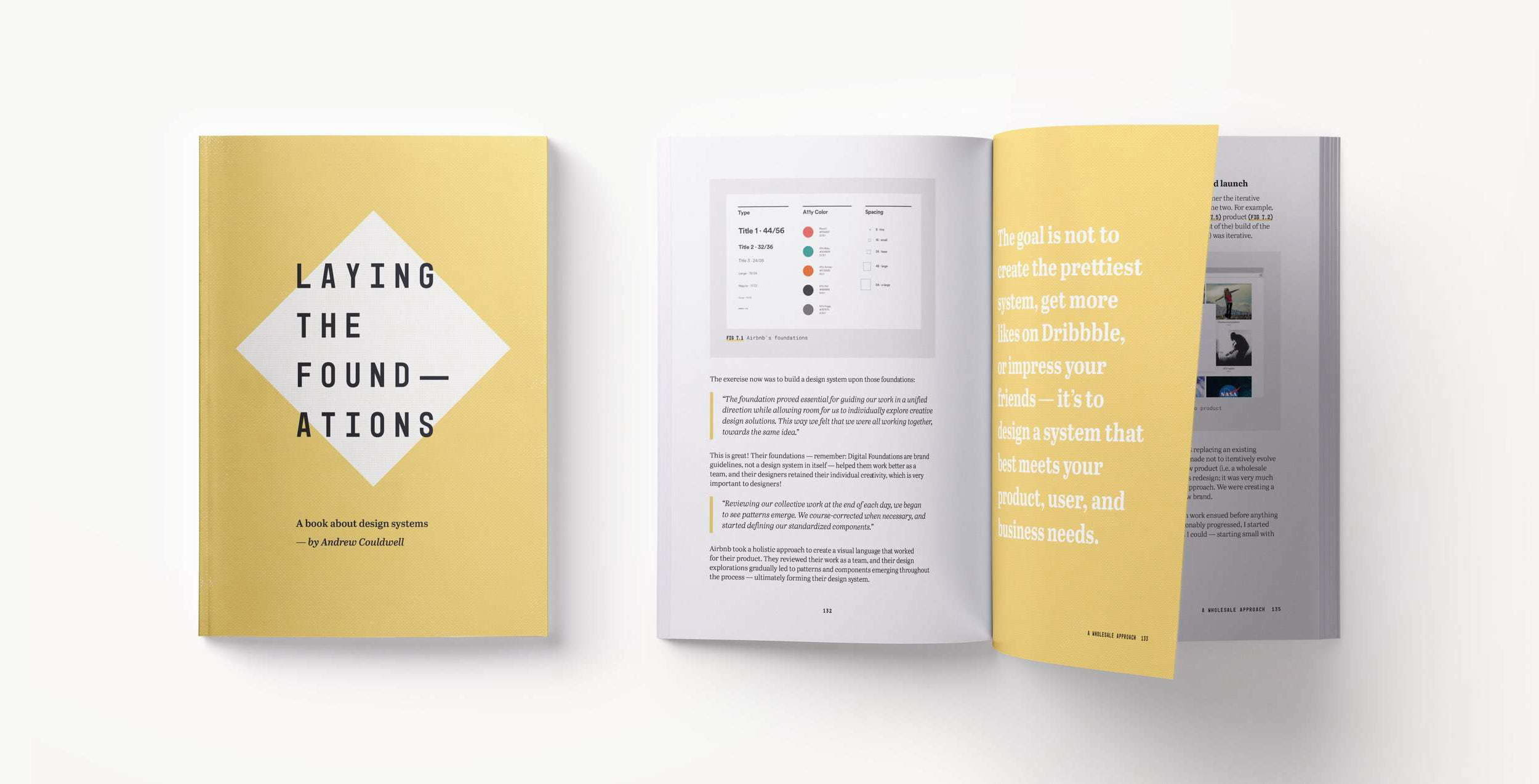 Cover and sample page of the 'Laying The Foundations' book by Andrew Couldwell