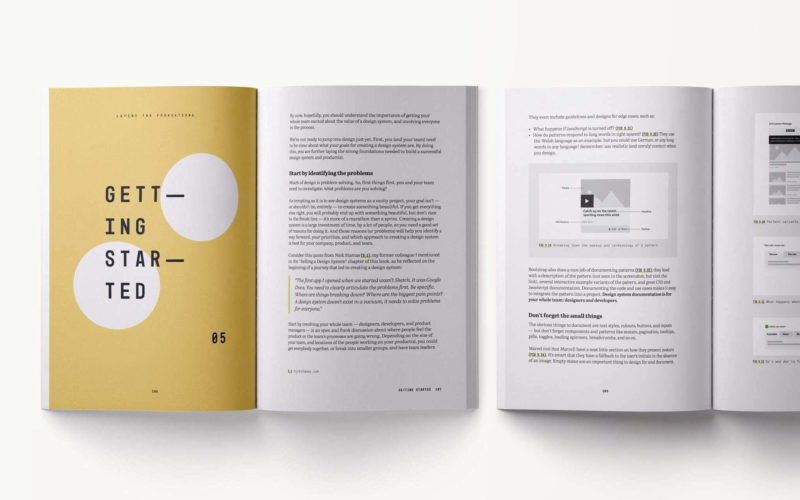 Some sample pages of the 'Laying The Foundations' book by Andrew Couldwell