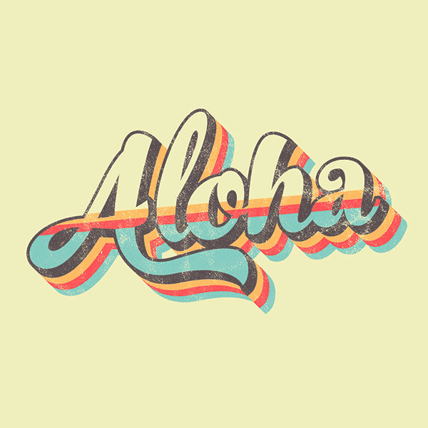 Retro Striped Text Effect in Adobe Illustrator