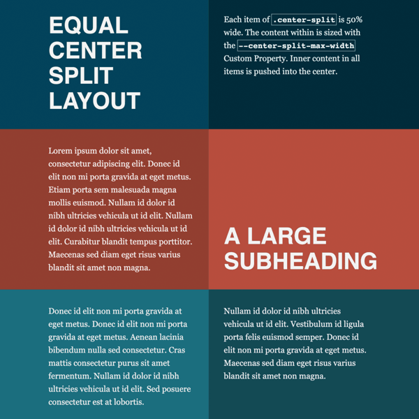 Create a Split, Faux-container Layout with CSS Grid & Flexbox