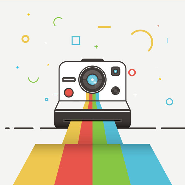 Create a Polaroid Camera Icon Design in Adobe Illustrator