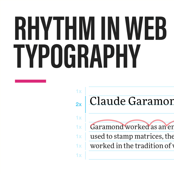 Rhythm in Web Typography
