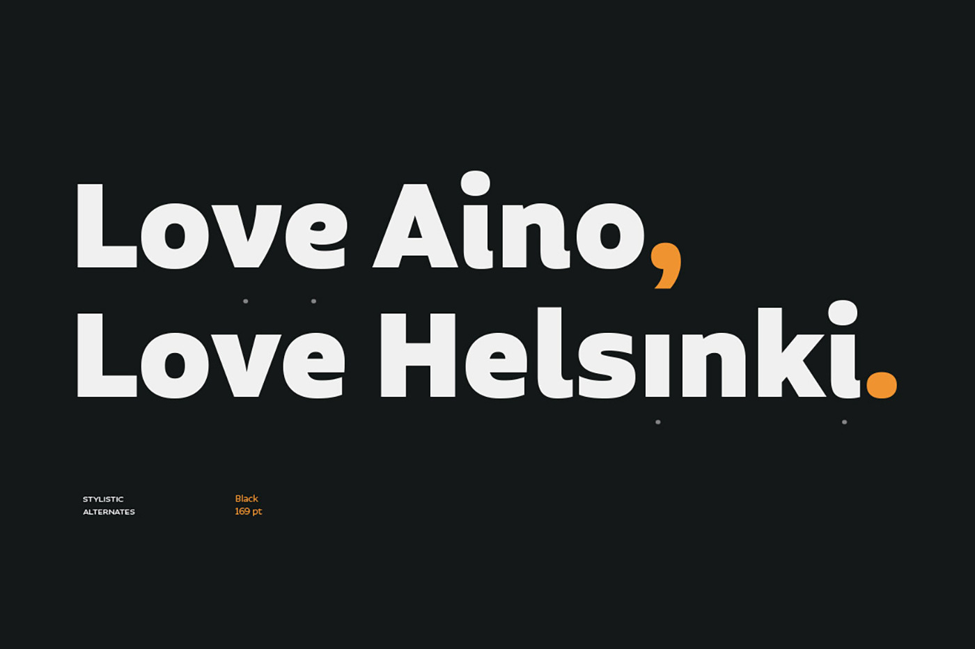 Aalto Sans comes in 8 weights with matching italics and the whole family is composed of 3 subfamilies.
