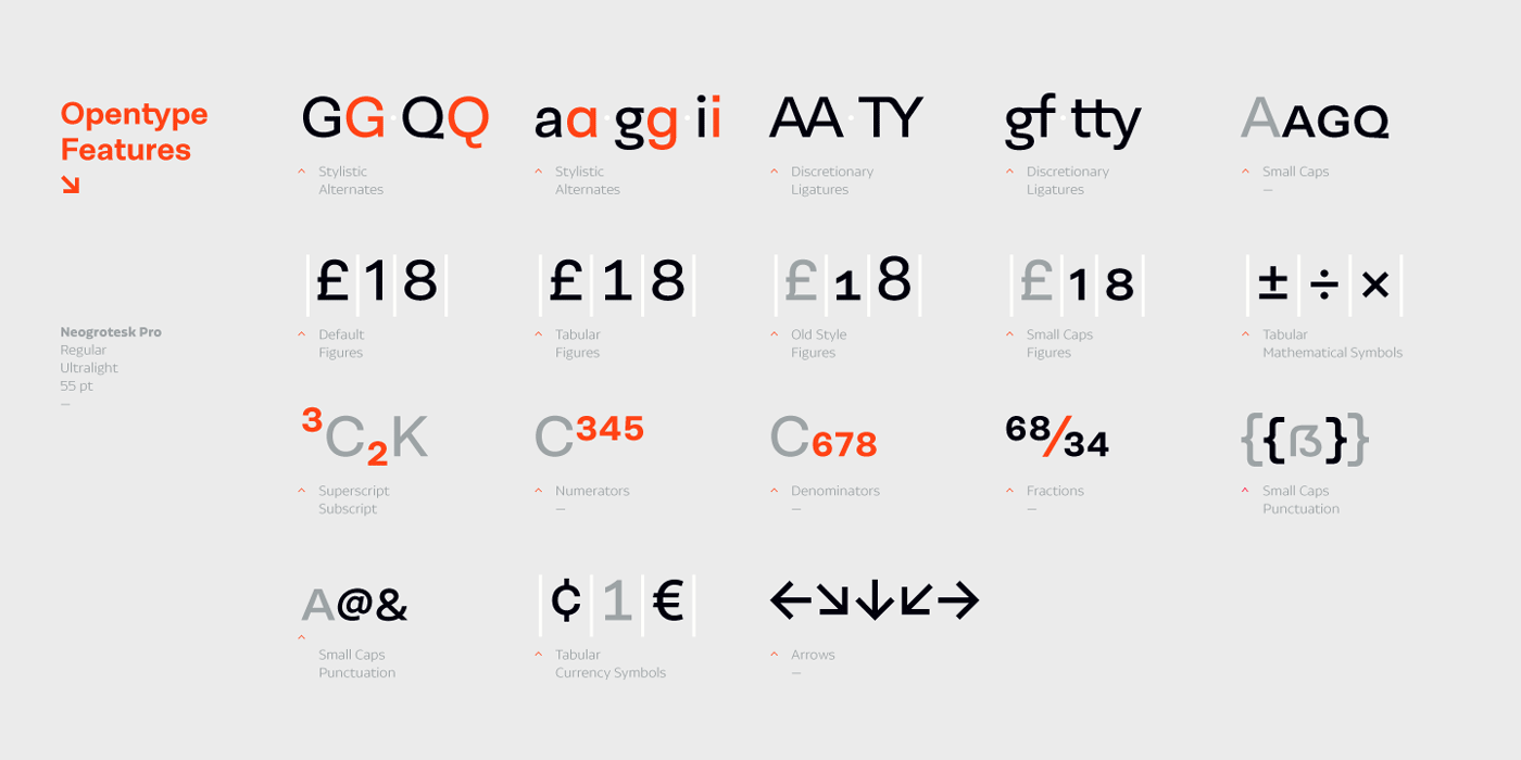 This 40-style type comes in 5 weights with matching italics and contains 770 glyphs.