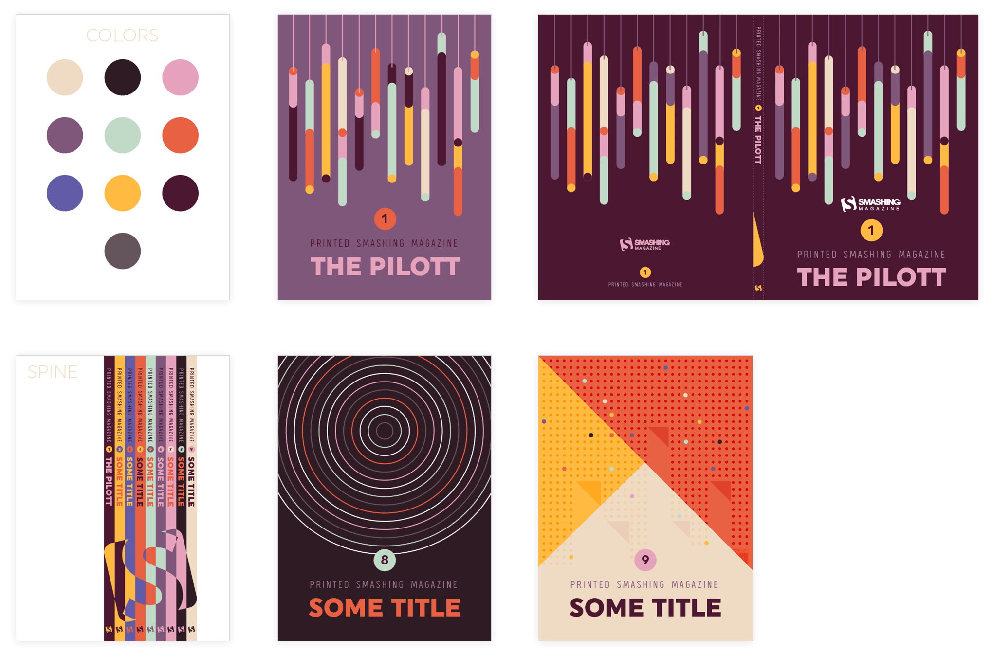 Old cover designs created back in 2016 for Smashing Magazine Print