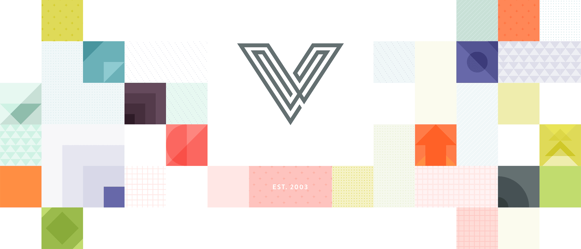 I left enough room empty to place my V icon at the top center. The idea was to use this as my homepage header.