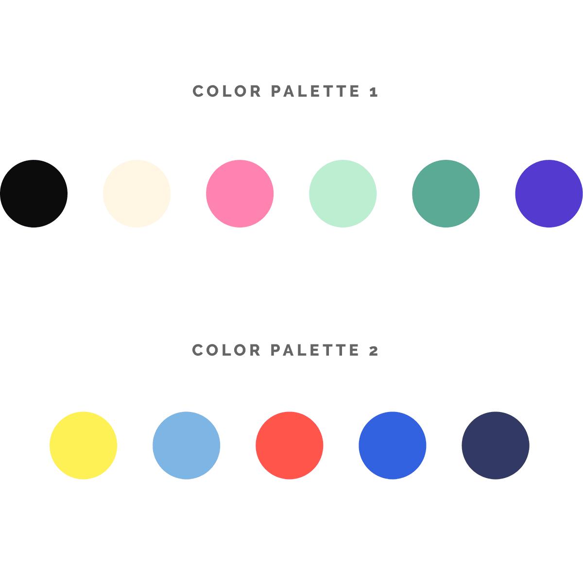 lick! book color palette explorations