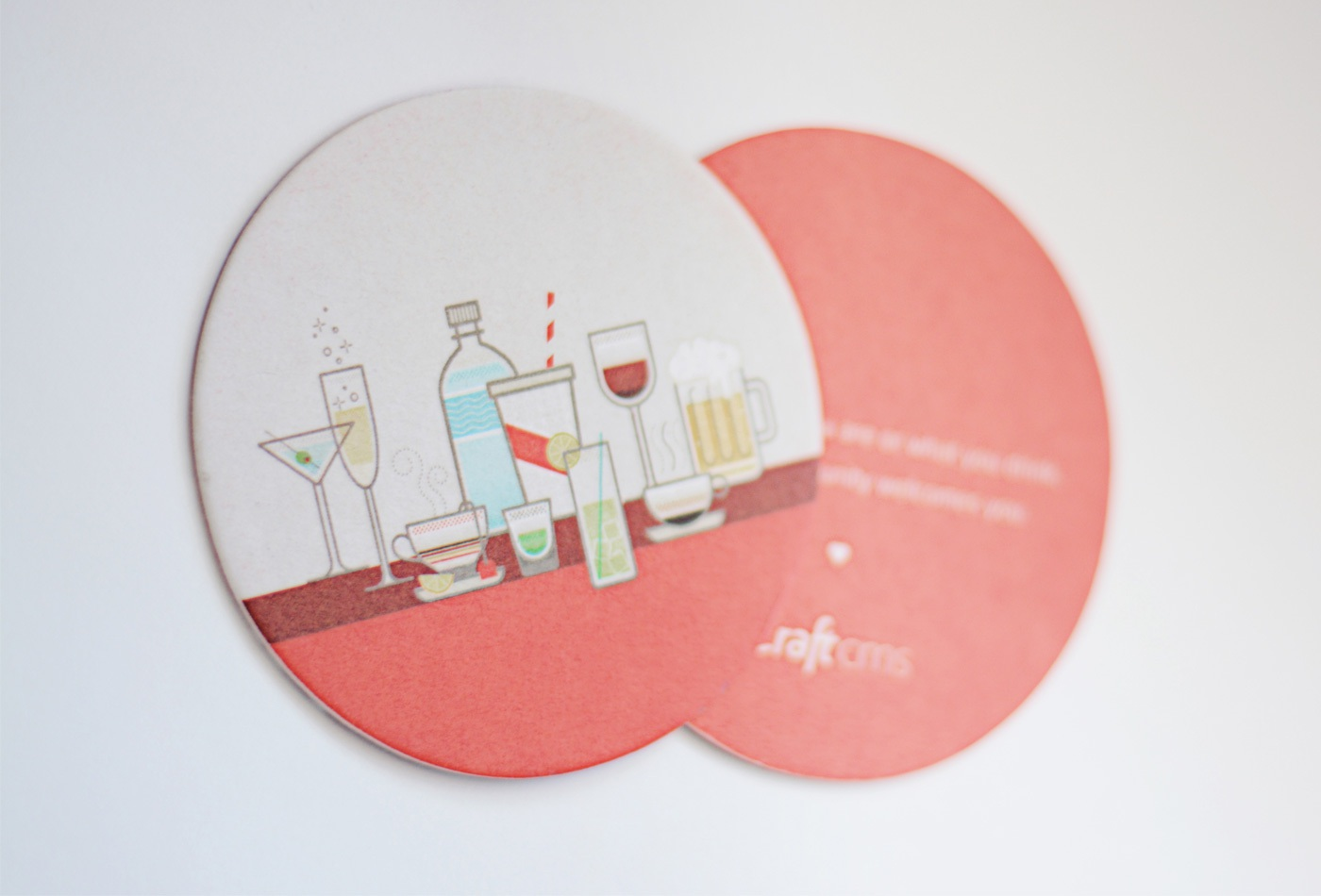 Printed coaster (front side on top)