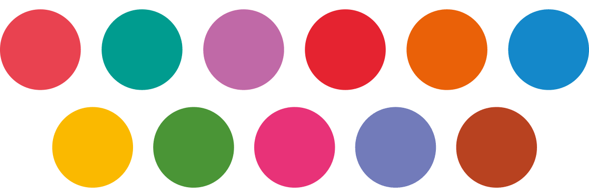 The Be Cards color palette, to be used for the Trustmakers book.