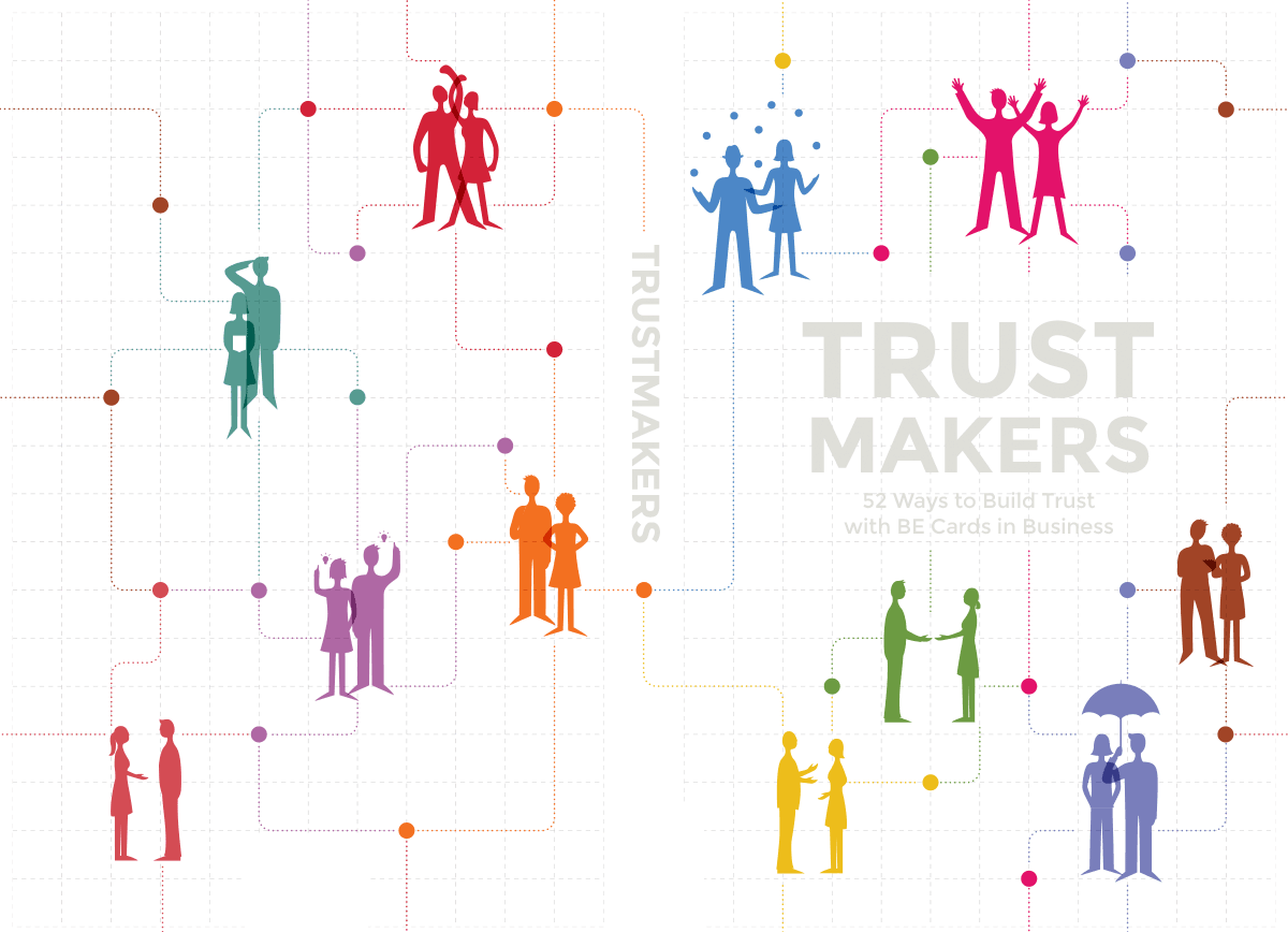My 1st try of the Trustmakers book cover design based on the 3rd concept