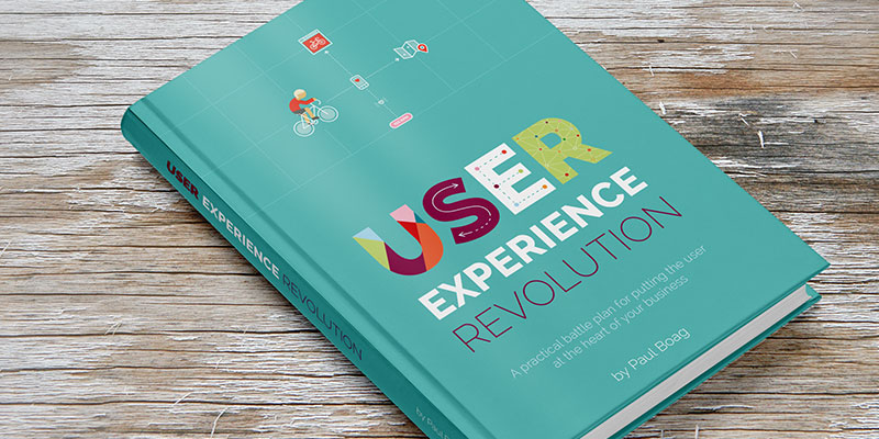 The 'User Experience Revolution' Book Cover Design