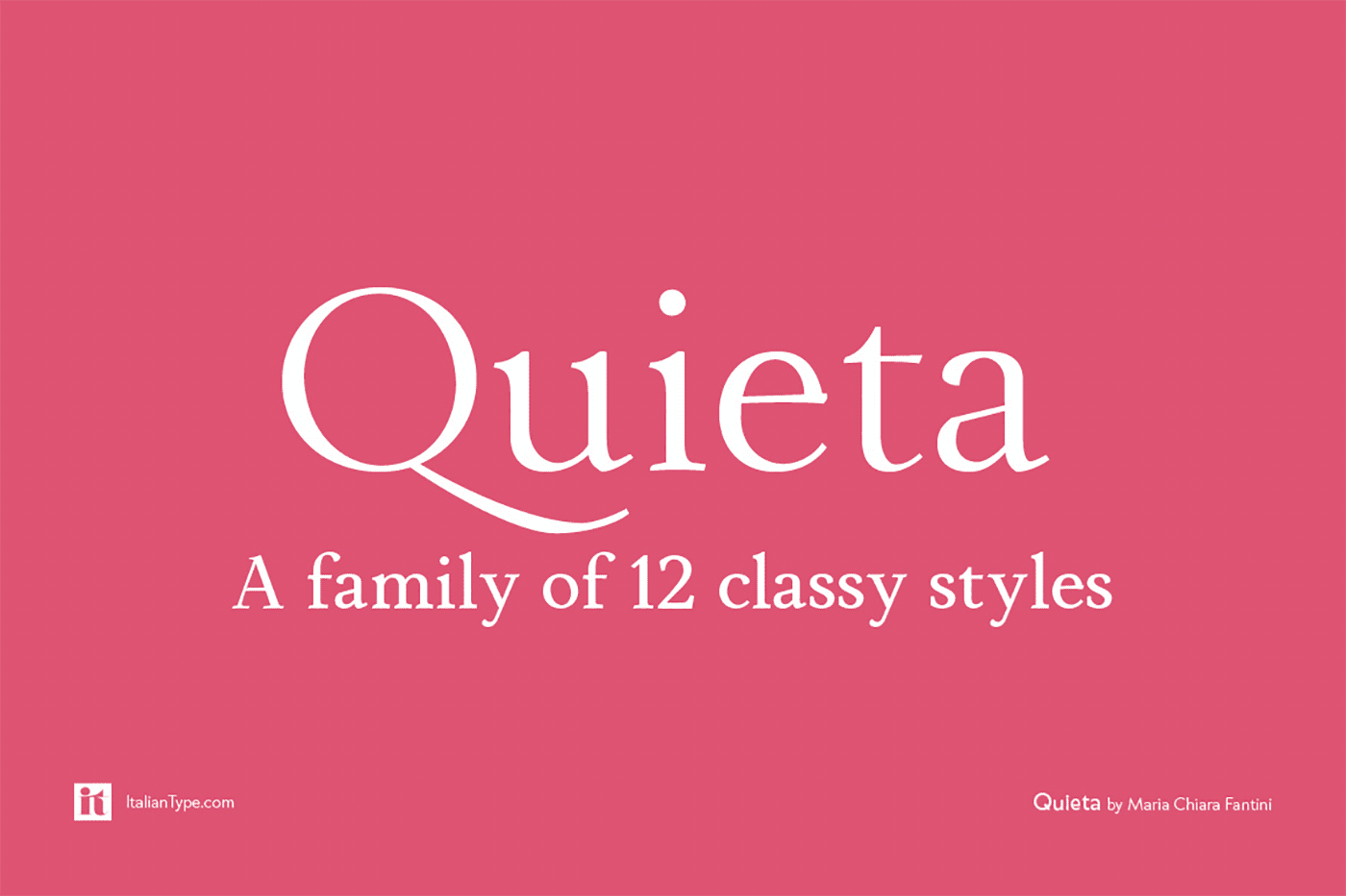 A family of 12 classy styles.
