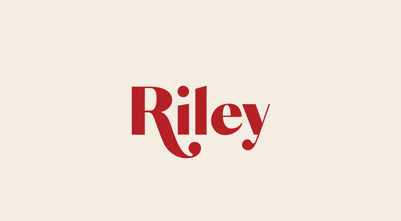 Add style to your designs with Riley, a modern typeface with sweeping, bold letterforms and clean lines.