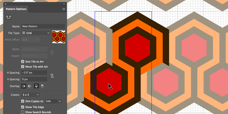 Create a Hexagon Pattern in Adobe Illustrator
