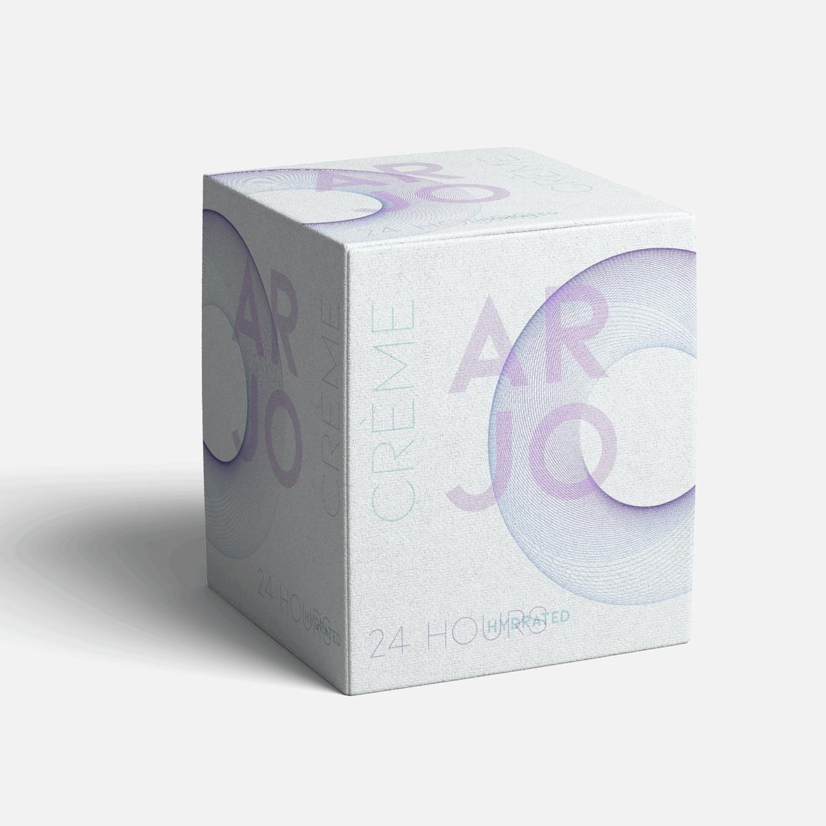 A fictional packaging design using a spirograph