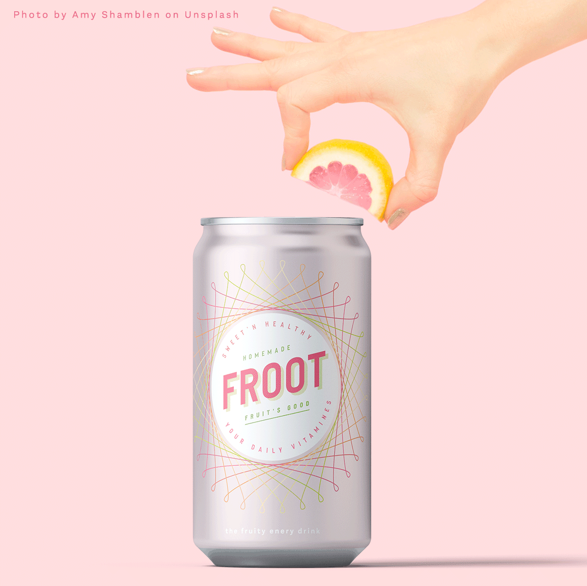 Froot, a fictional fruit energy drink