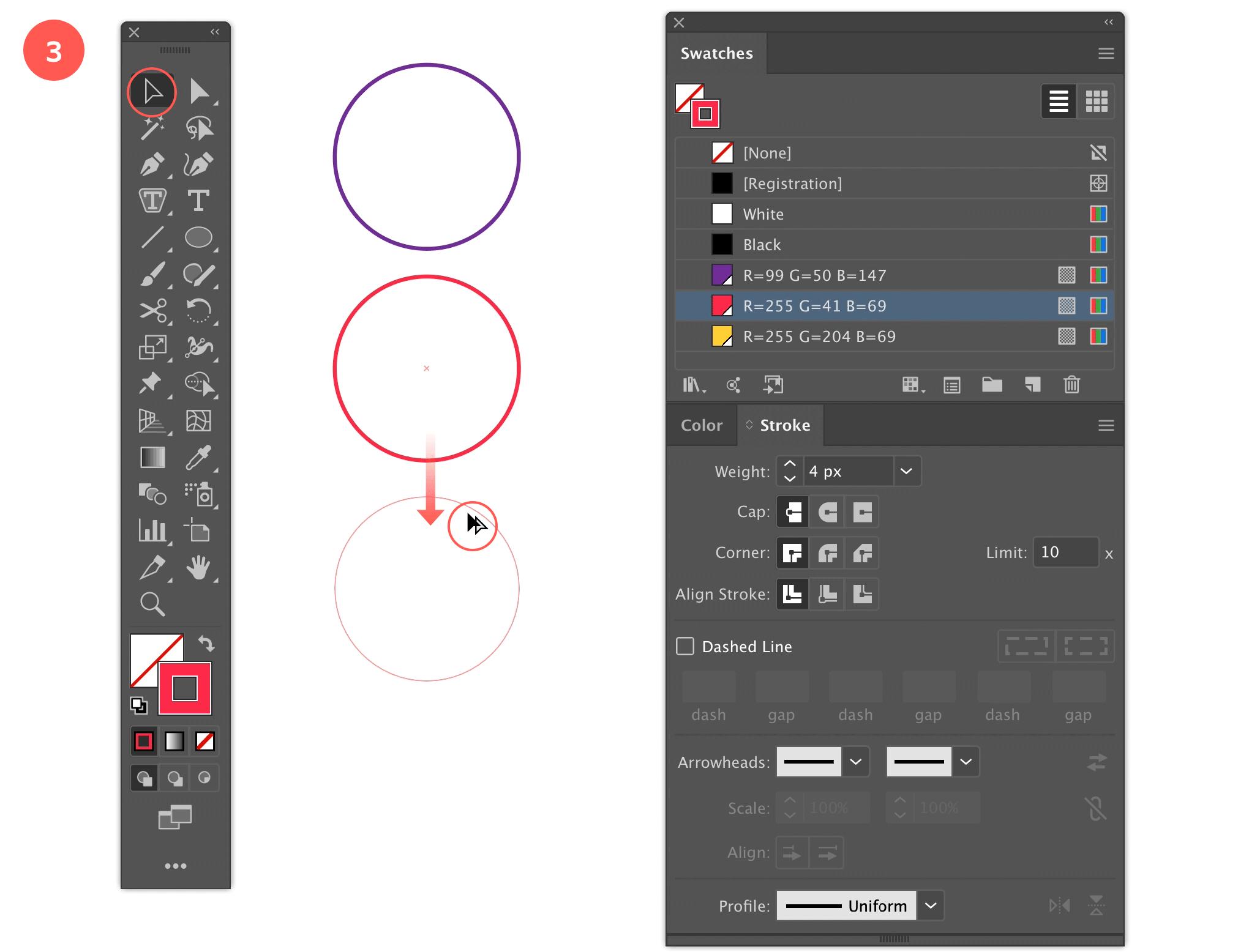 Step 3: Duplicate the Circle again