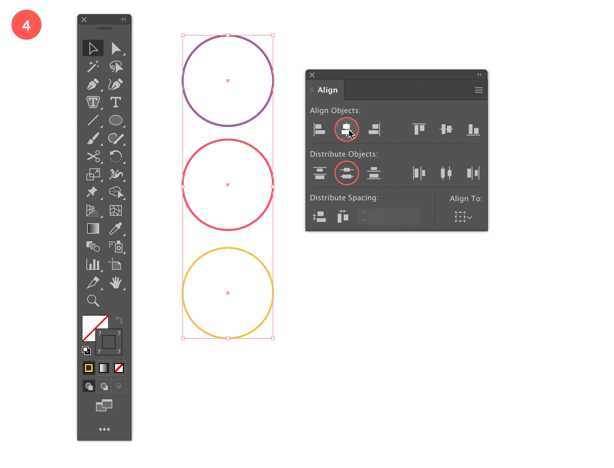 Step 4: Align the Circles