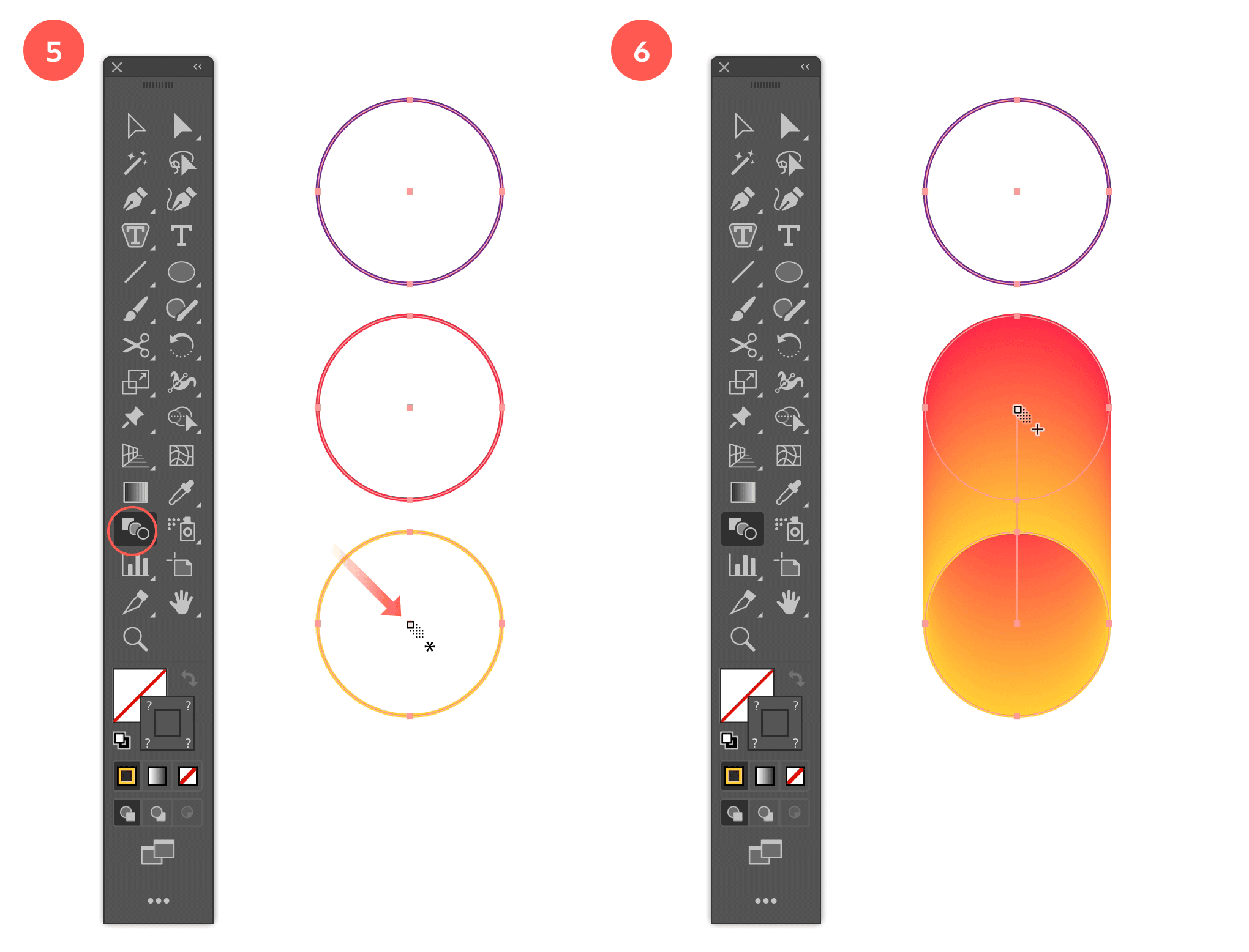 Step 5: Blend the 3rd Circle with the 2nd Circle  - Step 6: Create the Blending Between the 3rd and 2nd Circle