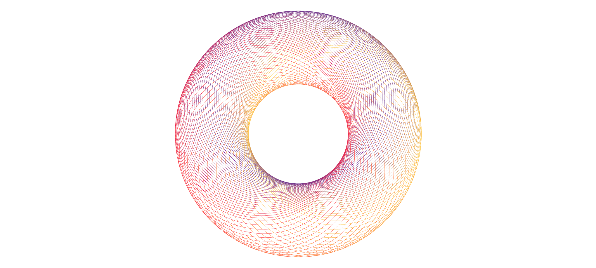 A spirograph circle ring using the Blend Tool