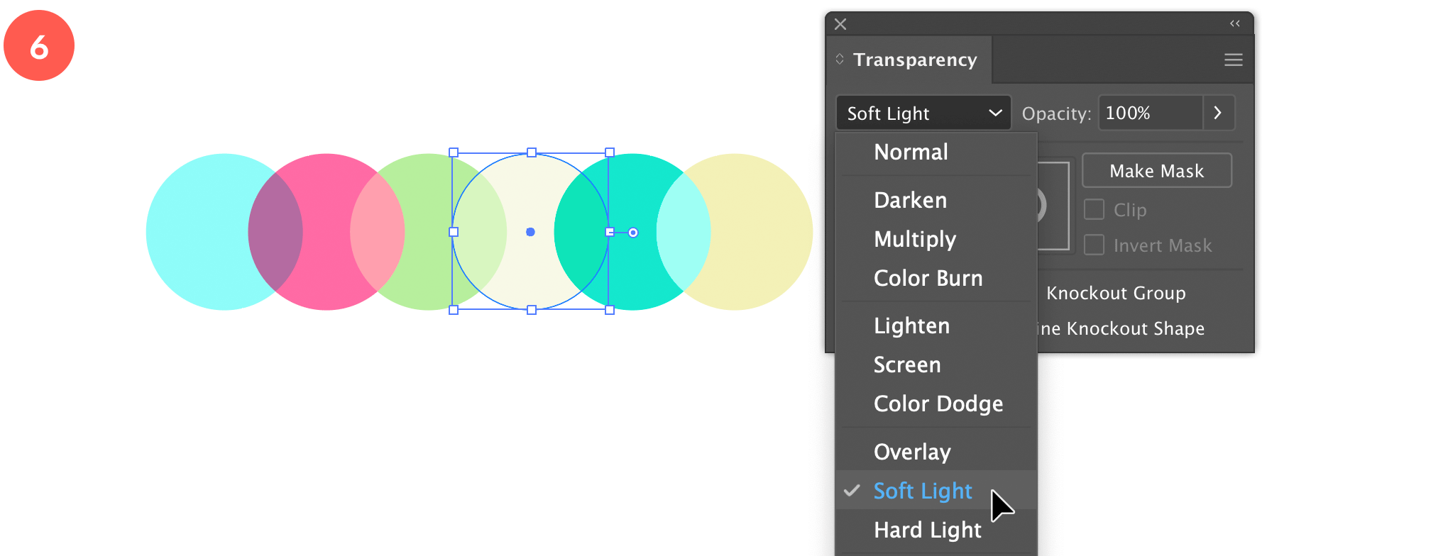 Experiment with transparency modes