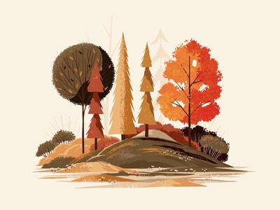 Adobe Fresco - Fall Foliage