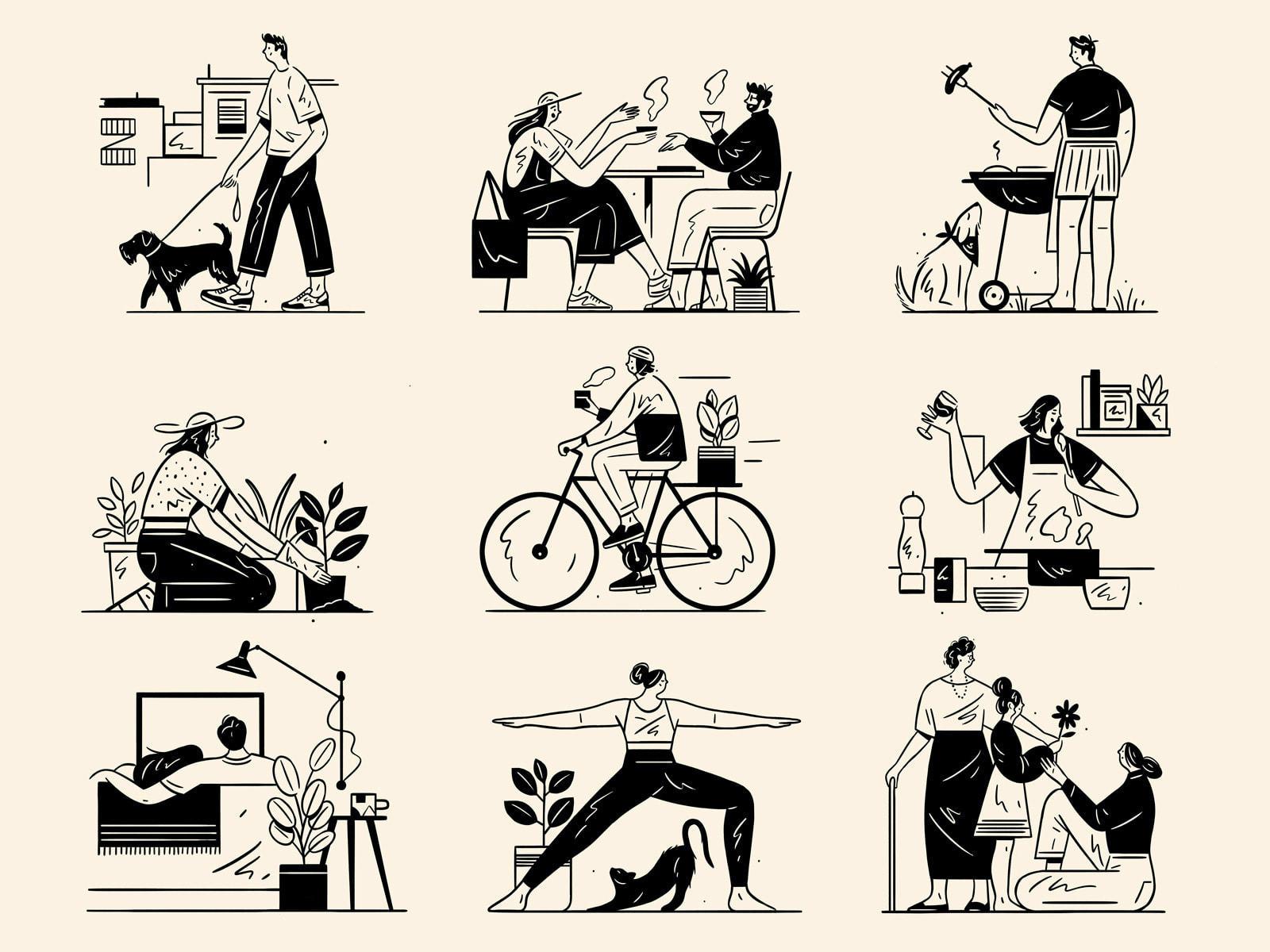 Evolution Brand Illustrations