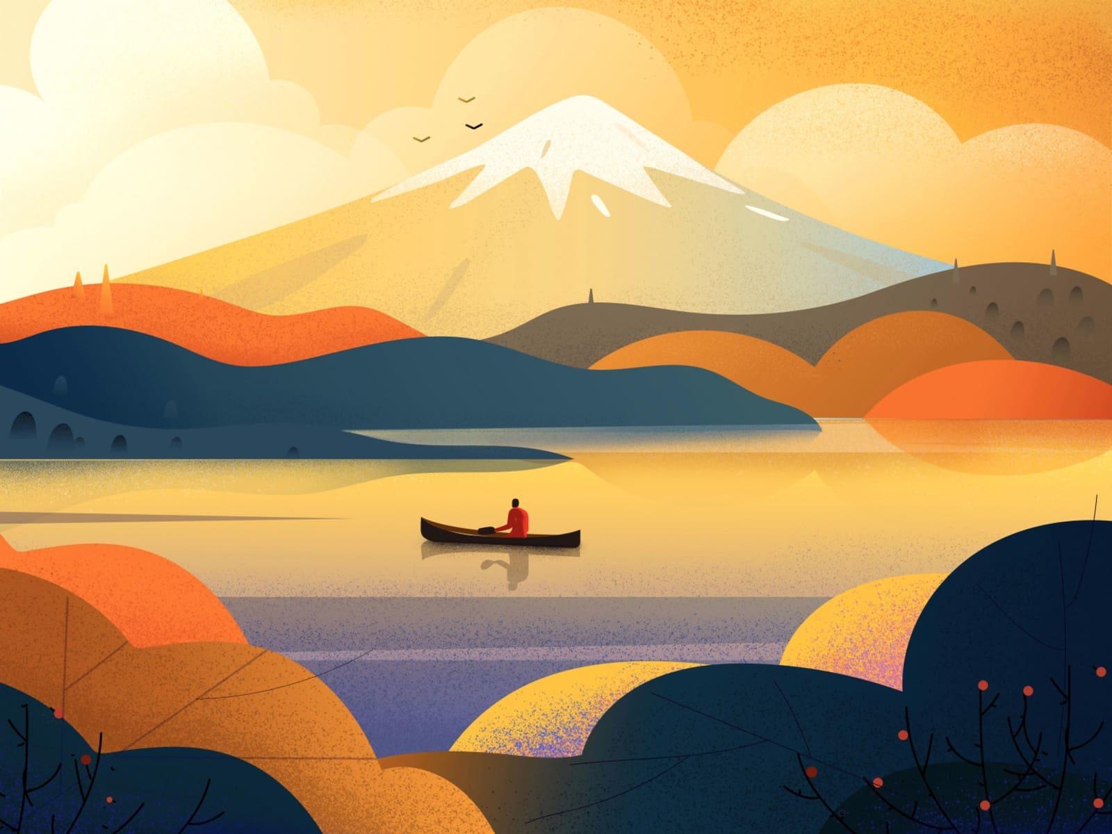 Mount Fuji Boat