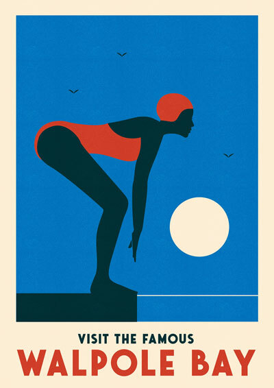 Outdoor Swimming Posters