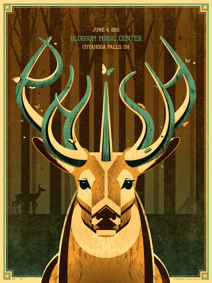 "Phish ""Blossom Music Center"" Poster"