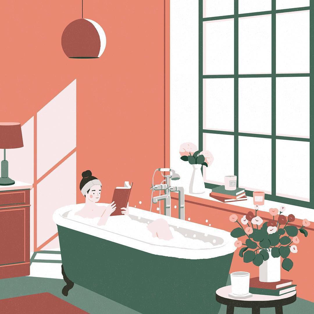 Reading in the Bubble Bath