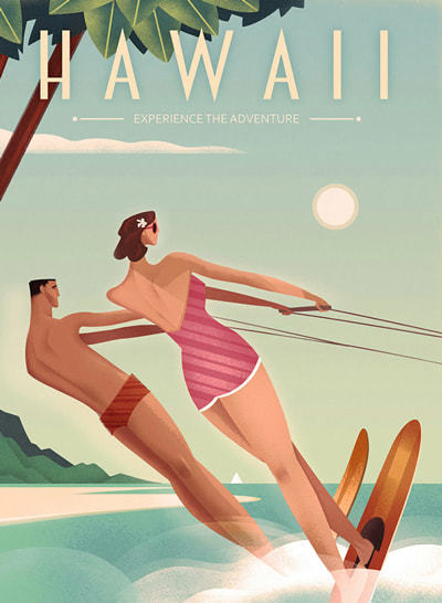 Retro Graphic Travel Posters