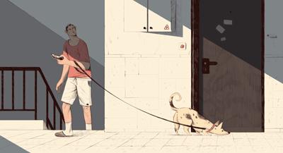 Suspicious Dog Walker