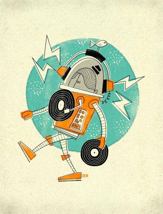 Vinyl Robot Boy