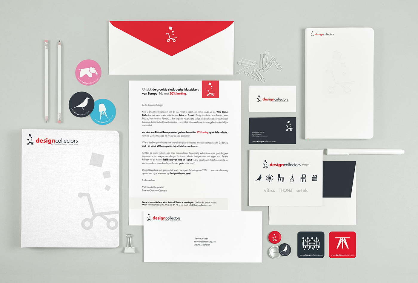 Designcollectors branding material & stationery