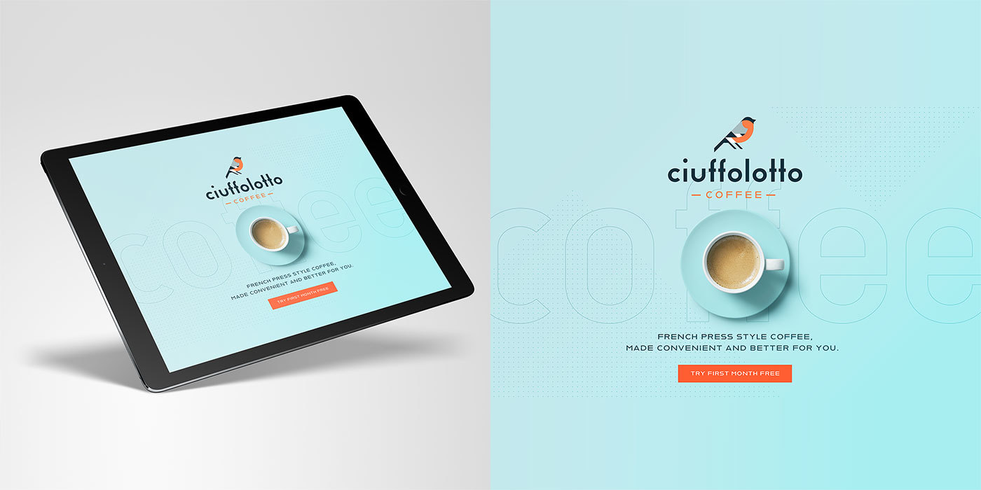 Ciuffolotto coffee brand design for the Adobe Hidden Treasures Béhance Challenge