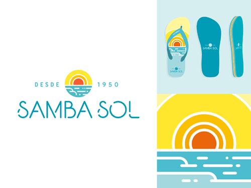 Samba Sol logo design & flip-flops